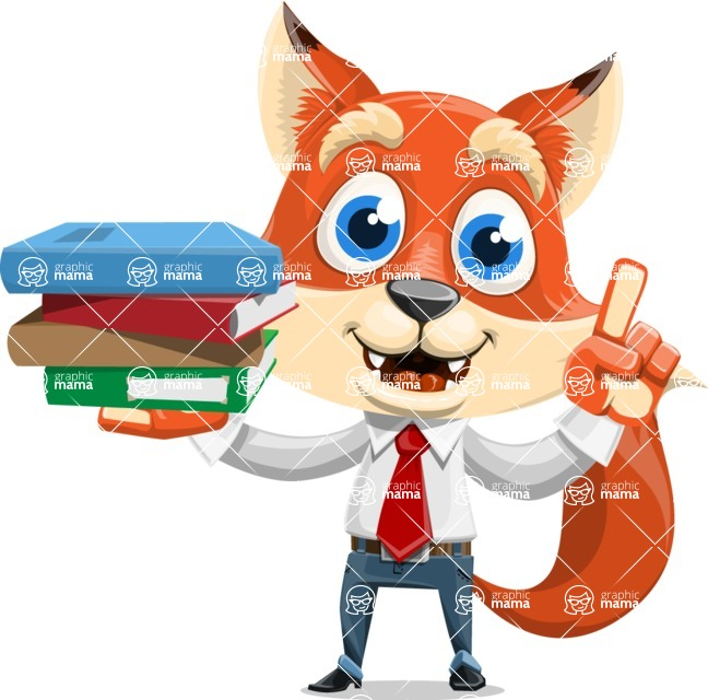 Fox Businessman Cartoon Vector character AKA Ben Tails - Book 2
