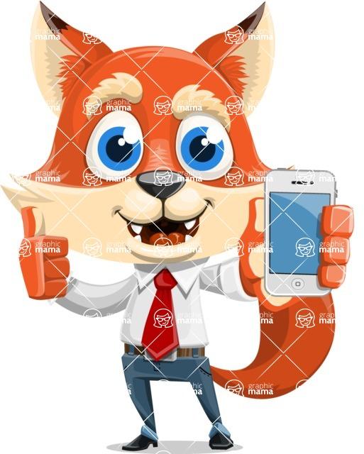 Fox Businessman Cartoon Vector character AKA Ben Tails - iPhone