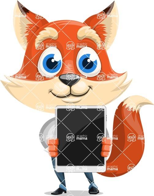 Fox Businessman Cartoon Vector character AKA Ben Tails - iPad 1