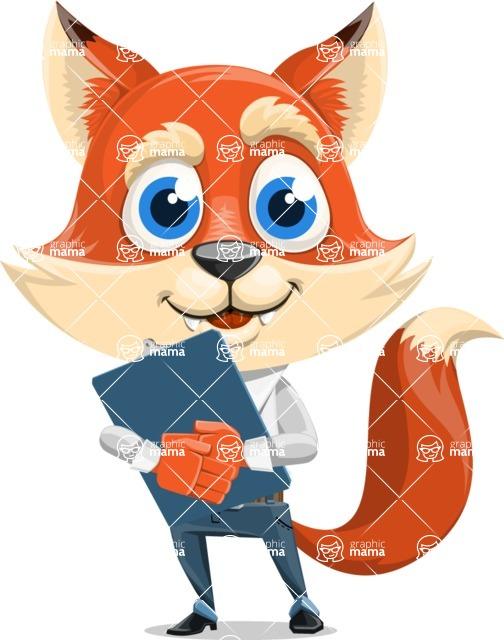 Fox Businessman Cartoon Vector character AKA Ben Tails - Notepad 2