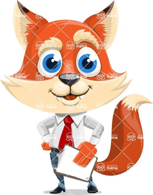 Fox Businessman Cartoon Vector character AKA Ben Tails - Notepad 4