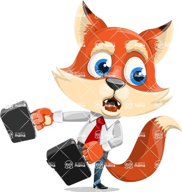 Fox Businessman Cartoon Vector character AKA Ben Tails - Briefcase 3