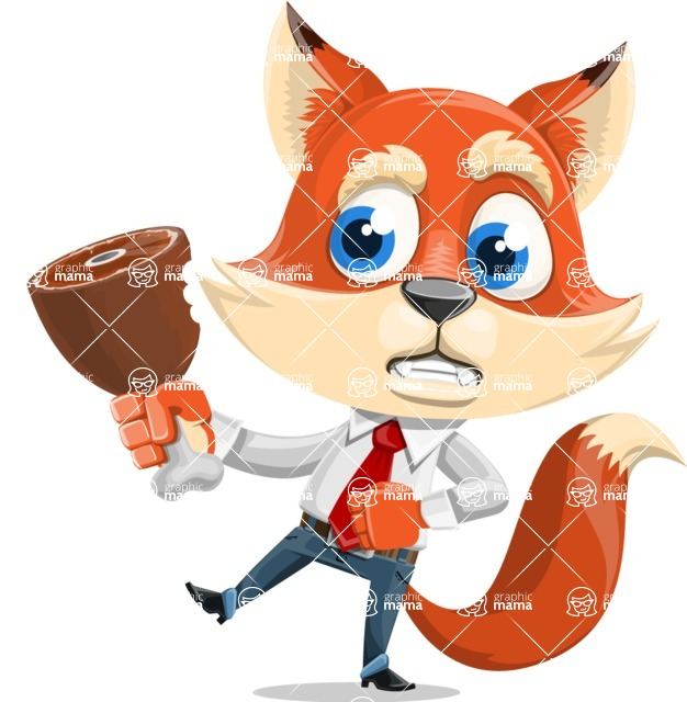 Fox Businessman Cartoon Vector character AKA Ben Tails - Meat