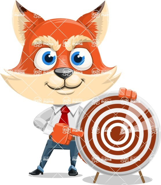Fox Businessman Cartoon Vector character AKA Ben Tails - Target