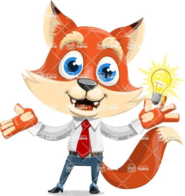 Fox Businessman Cartoon Vector character AKA Ben Tails - Idea 1