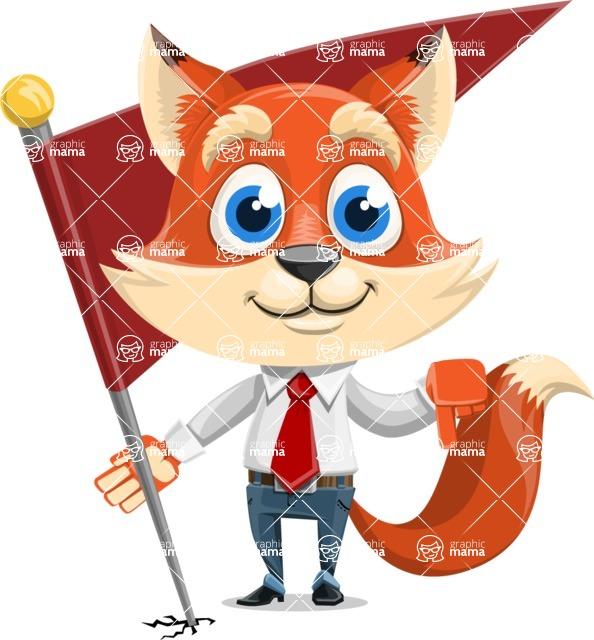 Fox Businessman Cartoon Vector character AKA Ben Tails - Checkpoint