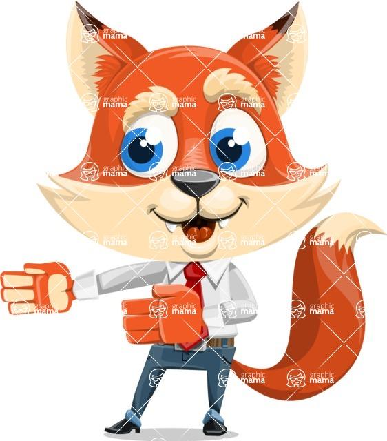Fox Businessman Cartoon Vector character AKA Ben Tails - Show 2
