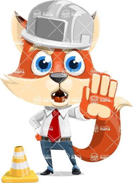 Fox Businessman Cartoon Vector character AKA Ben Tails - Under Construction 1