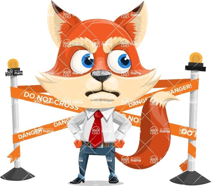 Fox Businessman Cartoon Vector character AKA Ben Tails - Under Construction 2