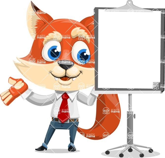 Fox Businessman Cartoon Vector character AKA Ben Tails - Presentation 1