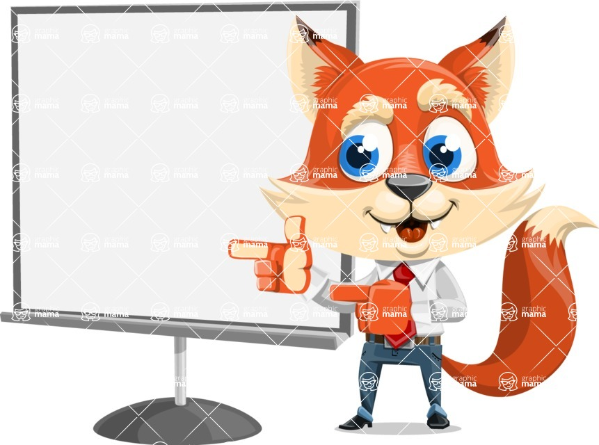 Fox Businessman Cartoon Vector character AKA Ben Tails - Presentation 2