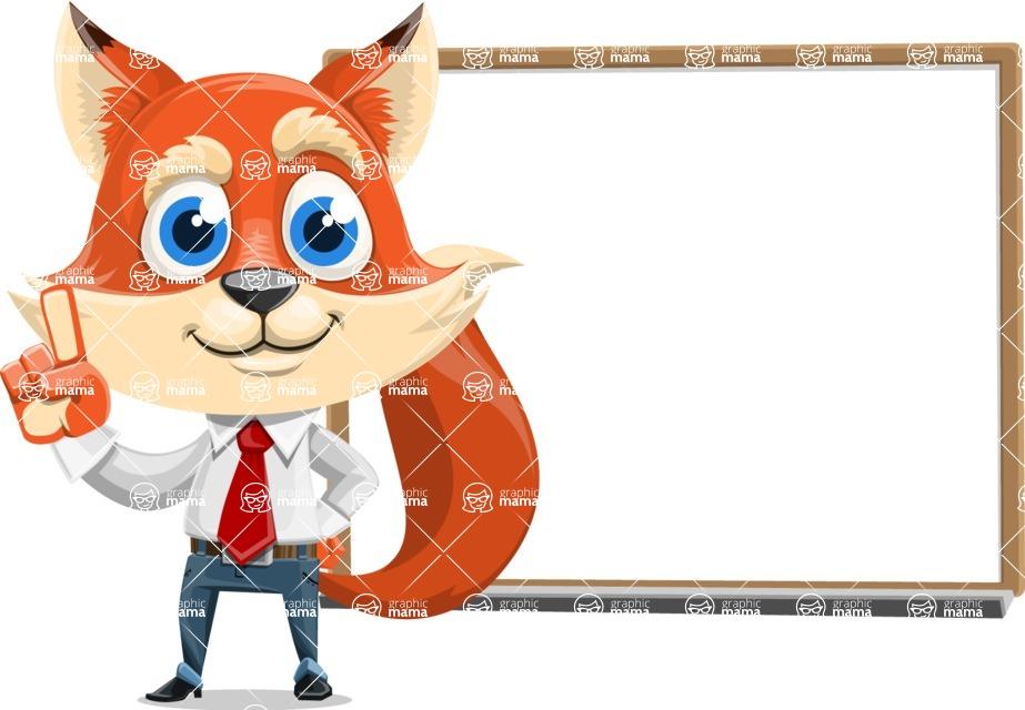 Fox Businessman Cartoon Vector character AKA Ben Tails - Presentation 3