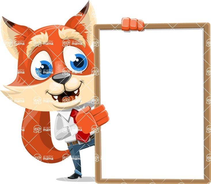 Fox Businessman Cartoon Vector character AKA Ben Tails - Presentation 4
