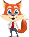 Fox Businessman Cartoon Vector character AKA Ben Tails - Normal