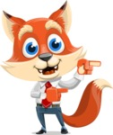 Fox Businessman Cartoon Vector character AKA Ben Tails - Point 2