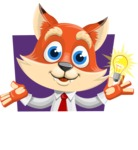 Fox Businessman Cartoon Vector character AKA Ben Tails - Shape 1