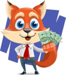 Fox Businessman Cartoon Vector character AKA Ben Tails - Shape 7