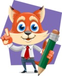 Fox Businessman Cartoon Vector character AKA Ben Tails - Shape 8