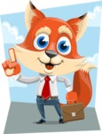 Fox Businessman Cartoon Vector character AKA Ben Tails - Shape 9