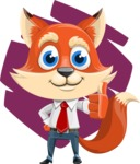 Fox Businessman Cartoon Vector character AKA Ben Tails - Shape 10