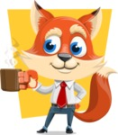 Fox Businessman Cartoon Vector character AKA Ben Tails - Shape 11
