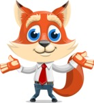 Fox Businessman Cartoon Vector character AKA Ben Tails - Sorry