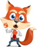 Fox Businessman Cartoon Vector character AKA Ben Tails - Angry
