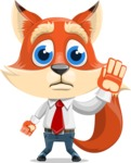 Fox Businessman Cartoon Vector character AKA Ben Tails - Goodbye