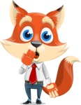 Fox Businessman Cartoon Vector character AKA Ben Tails - Oops