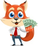 Fox Businessman Cartoon Vector character AKA Ben Tails - Show me  the Money