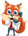 Fox Businessman Cartoon Vector character AKA Ben Tails - Support