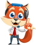 Fox Businessman Cartoon Vector character AKA Ben Tails - Support 2