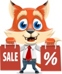 Fox Businessman Cartoon Vector character AKA Ben Tails - Sale 2