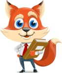 Fox Businessman Cartoon Vector character AKA Ben Tails - Book 3