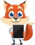 Fox Businessman Cartoon Vector character AKA Ben Tails - iPad 1