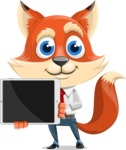Fox Businessman Cartoon Vector character AKA Ben Tails - iPad 2
