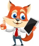 Fox Businessman Cartoon Vector character AKA Ben Tails - iPad 3