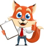 Fox Businessman Cartoon Vector character AKA Ben Tails - Notepad 1