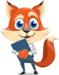 Fox Businessman Cartoon Vector character AKA Ben Tails - Notepad 2