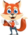 Fox Businessman Cartoon Vector character AKA Ben Tails - Notepad 3