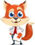 Fox Businessman Cartoon Vector character AKA Ben Tails - Notepad 4