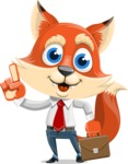 Fox Businessman Cartoon Vector character AKA Ben Tails - Briefcase 2