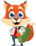 Fox Businessman Cartoon Vector character AKA Ben Tails - Travel 2