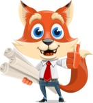 Fox Businessman Cartoon Vector character AKA Ben Tails - Plans