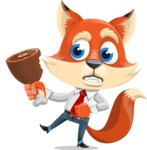 Fox Businessman Cartoon Vector character AKA Ben Tails - Meat