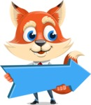 Fox Businessman Cartoon Vector character AKA Ben Tails - Pointer 2