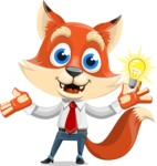 Fox Businessman Cartoon Vector character AKA Ben Tails - Idea 1