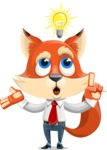 Fox Businessman Cartoon Vector character AKA Ben Tails - Idea 2