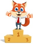 Fox Businessman Cartoon Vector character AKA Ben Tails - On Top