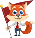 Fox Businessman Cartoon Vector character AKA Ben Tails - Checkpoint